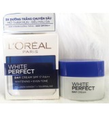 Kem Dưỡng Trắng Da Loreal White Perfect Day Cream SPF17 PA